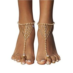 Shoes - Golden Barefoot Sandal 🌵3 for $15🌵